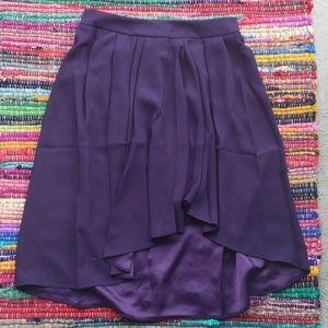 Lark & Ro purple asymmetrical ruffle skirt sz M